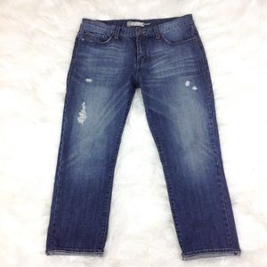 Level 99 Distress Boyfriend Crop Jeans Sz 30